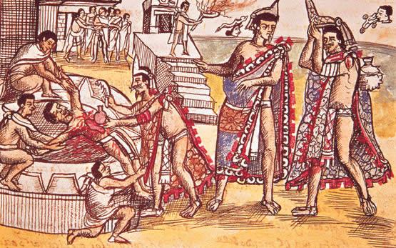 rituales mayas sacrificios humanos