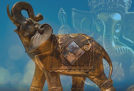 amuleto de elefante, decoración
