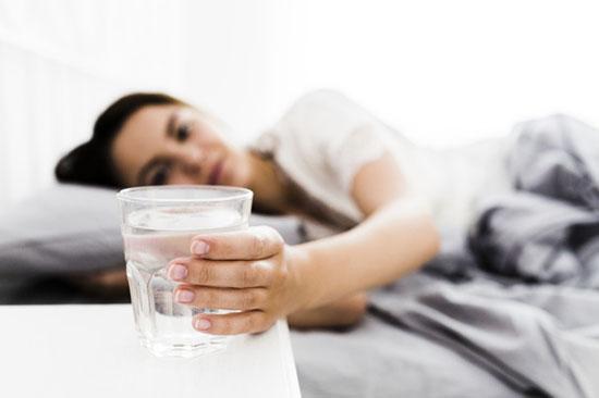 ritual con agua para dormir
