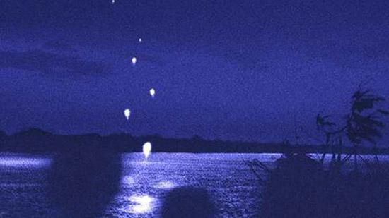 bolas de fuego del río Mekong