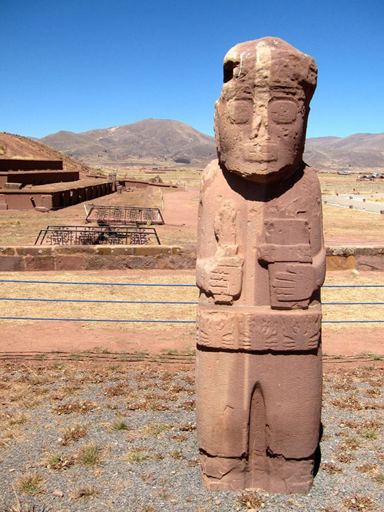 Monolito Tiahuanaco, Bolivia