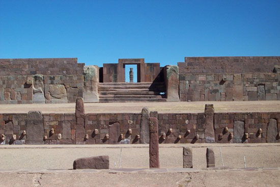ciudad antigua de Tiahuanaco, Bolivia
